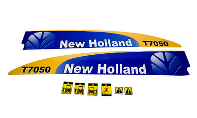 FORD NEW HOLLAND T7050 SERIES BONNET DECAL SET