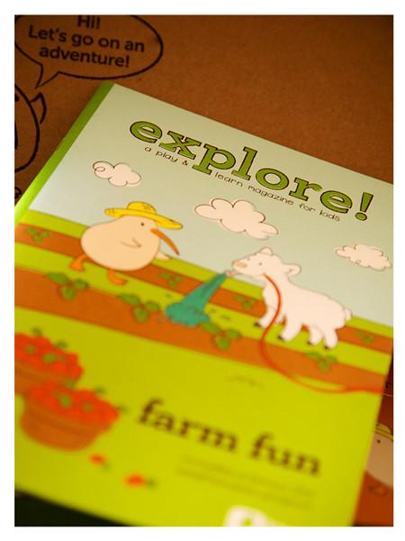 August 2014 Kiwi Crate: Farm Fun Explore! Magazine