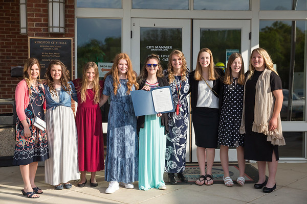 2021 Calvary Girls Basketball Team Awards and Recognition