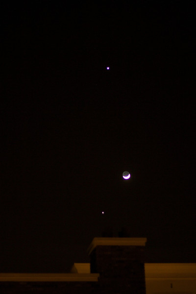 Venus-Jupiter-Moon Conjunction 2012
