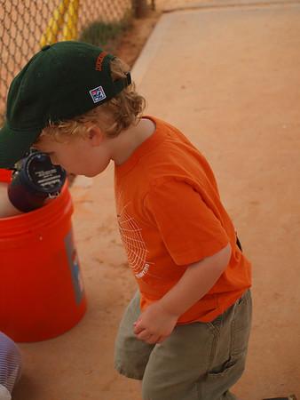 Y boys play baseball