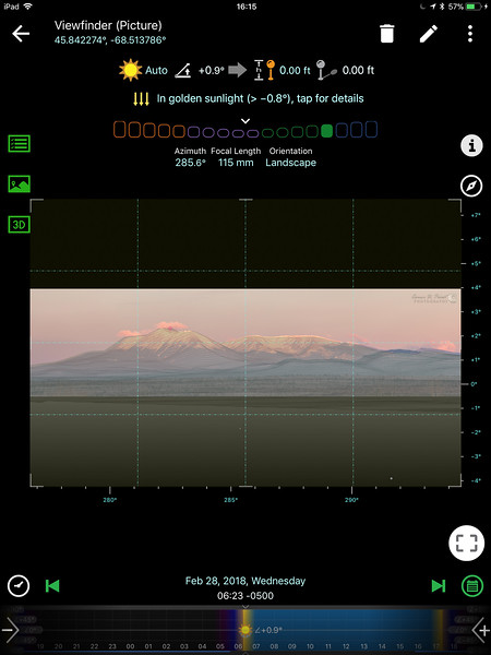 Picture viewfinder mode with 3D virtual reality view overlaid