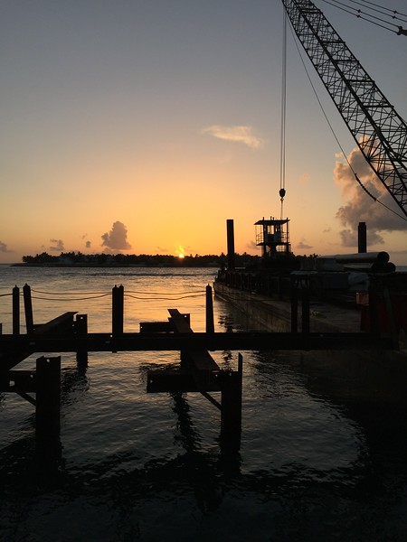Sunset with a Big Ugly Crane in the Way