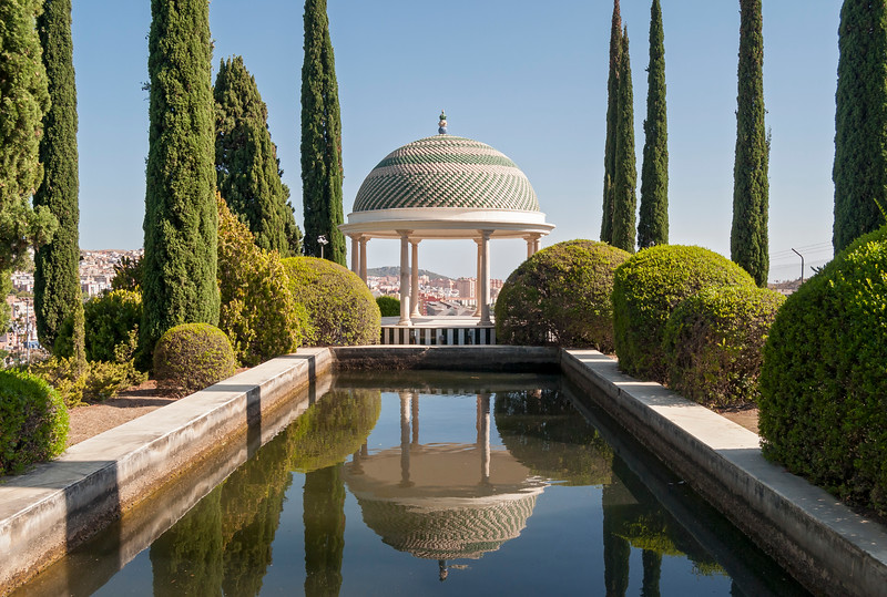 Mirador Pavilion in La Concepcion Botanical and Historical Garden in Malaga, Andalusia, Spain