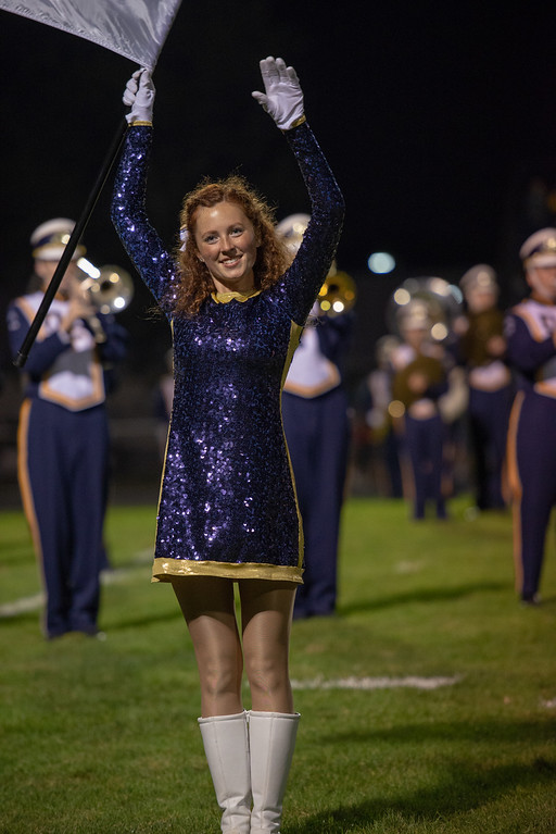 . Aimee Bielozer - The Morning Journal<br> The Olmsted Falls marching band performs at halftime.