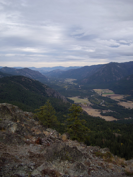 Looking East at the Methow Valley.  (from the road up to Goat Peak)