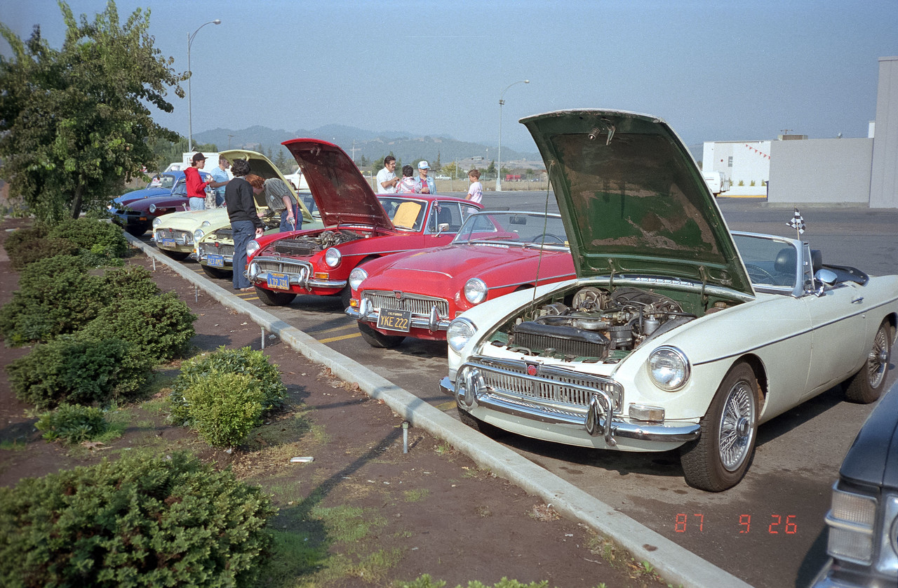 This first MGC is not our car.  Ours in fifth MGC down the line.