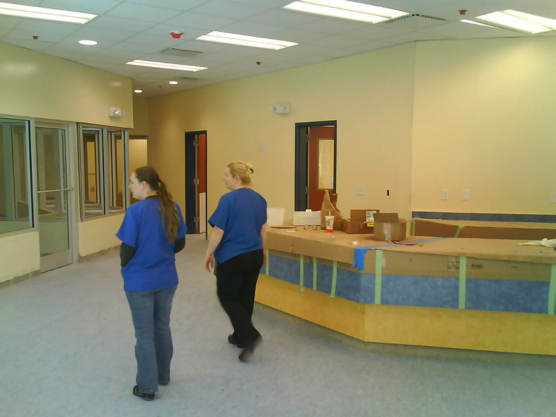 Front lobby (Stephanie, left, and Jennifer Bouronich, right)