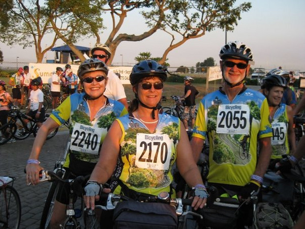 Bonnie, Joi and Ken at the start
