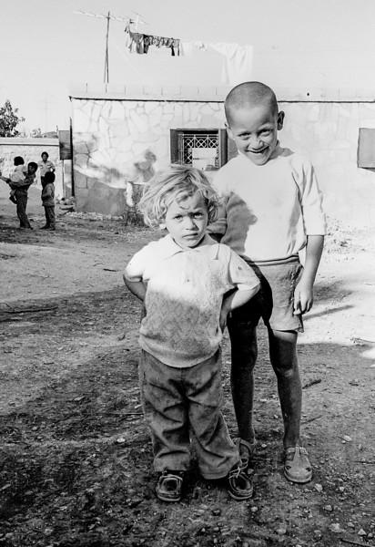 Children in Kalandia (Qalandia) refugee camp