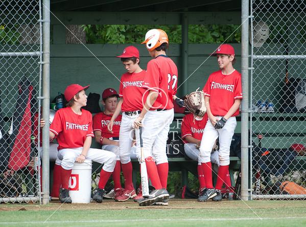 2011-04-09 Baseball 8th Lutheran South v Faith West @ SJS
