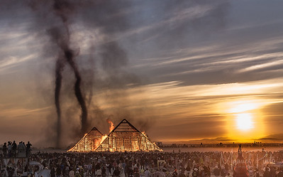 The Pyramid Burn at Sunrise