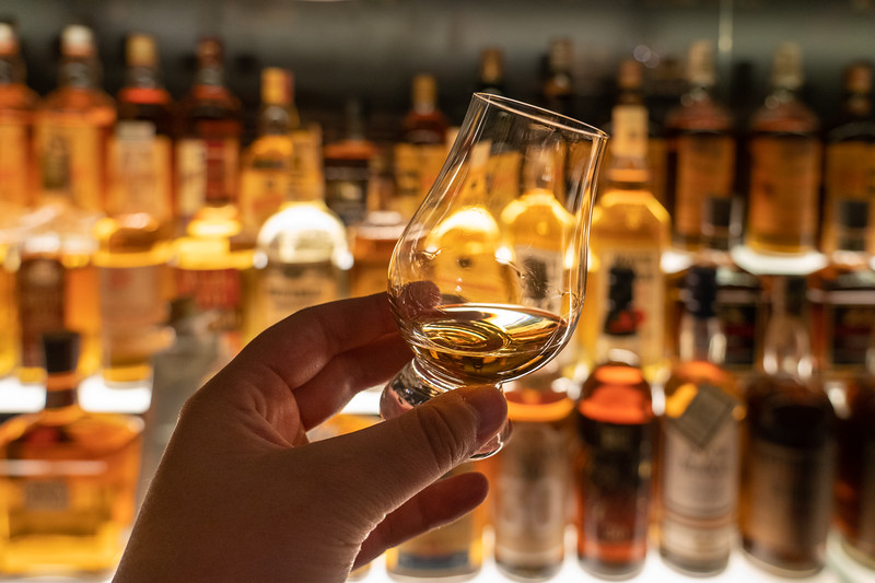 Dram at the Scotch Whisky Experience in Edinburgh