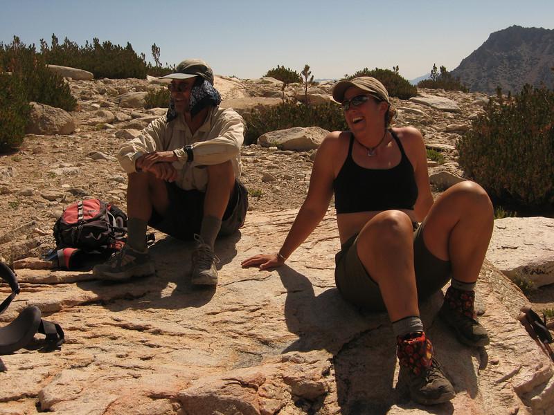 Laura and Gordon - last break before Kearsarge Pass