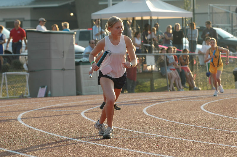 Shelby Salimone has leadoff for one of Maclay's 4X400m teams.