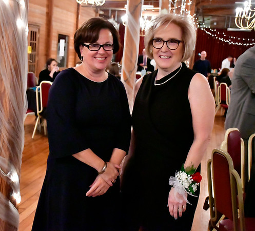 11/3/2018 Mike Orazzi | Staff Bristol Mayor Ellen Zoppo-Sassu and Lori Meusel Eschner are this year's ACE Awards recipients at the New England Carousel Museum Saturday night.