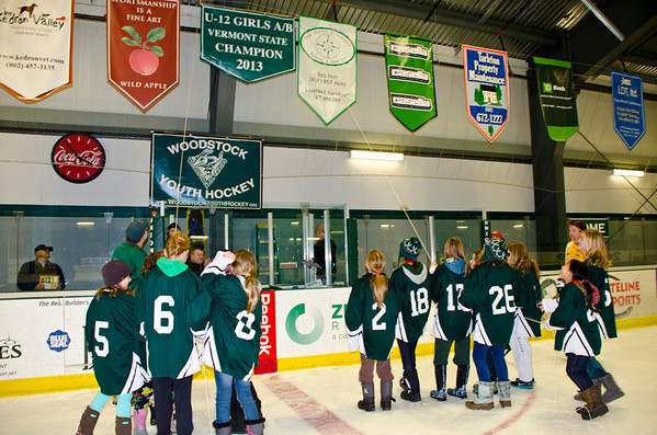 Girls U12 Hockey Champs, Banner