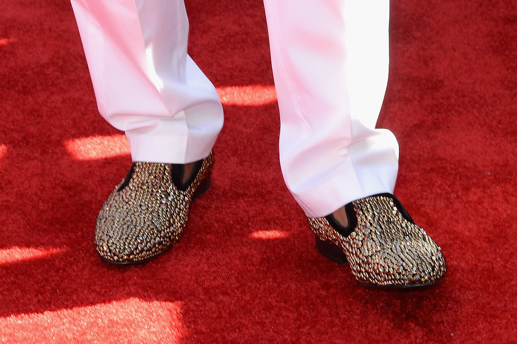 . Rapper Nelly (shoe detail) attends the BET AWARDS \'14 at Nokia Theatre L.A. LIVE on June 29, 2014 in Los Angeles, California.  (Photo by Earl Gibson III/Getty Images for BET)