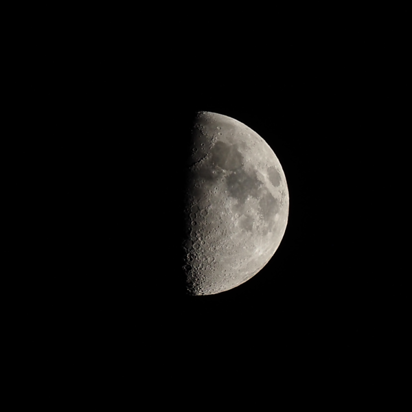 First Quarter Moon 50%