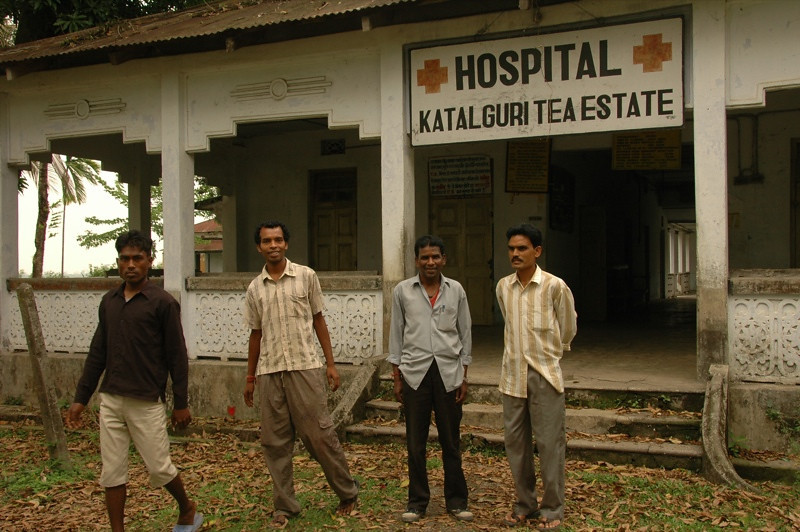 Closed Hospital at Tea Estate - West Bengal, India
