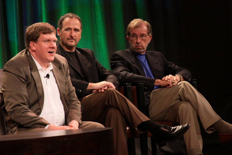"""FiRe CTO Design Challenge: """"Water Beyond Tomorrow"""": (L-R) Ty Carlson, Architect, SiArch Group, Microsoft; Joe Burton, CTO, Cisco; and Eric Openshaw, Vice Chair and U.S. Technology Leader, Deloitte"""