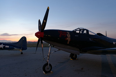 Sunrise at the Planes of Fame Air Show (Chino, CA) - May 2014