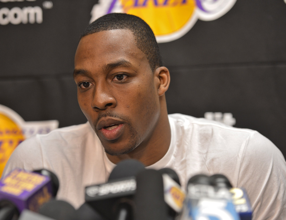 . El Segundo, CALIFORNIA--Day 2 of Lakers exit interviews. Dwight Howard. 4/30/13  (Robert Casillas/Daily Breeze)