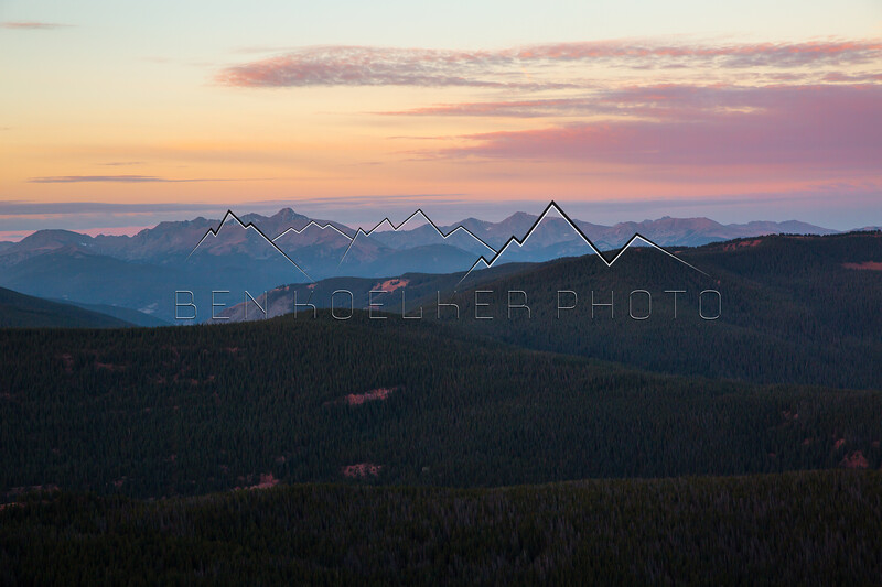 Mt. of the Holy Cross, CO with alpenglow at sunrise