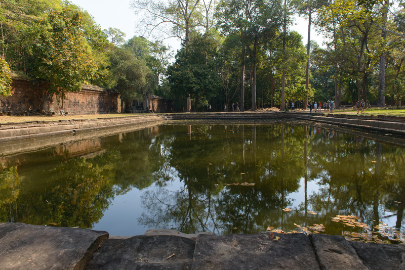Angkor Thom. The Royal Pond next to the temple Phimeanakas. Jayavarman VII reportedly watched nautical games performed in the pond.