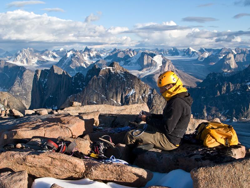 Chris Atkinson, Summit of Mount Asgard, Baffin Island