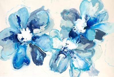 "Blu Array - Hibberd, 40""x60"" on canvas."