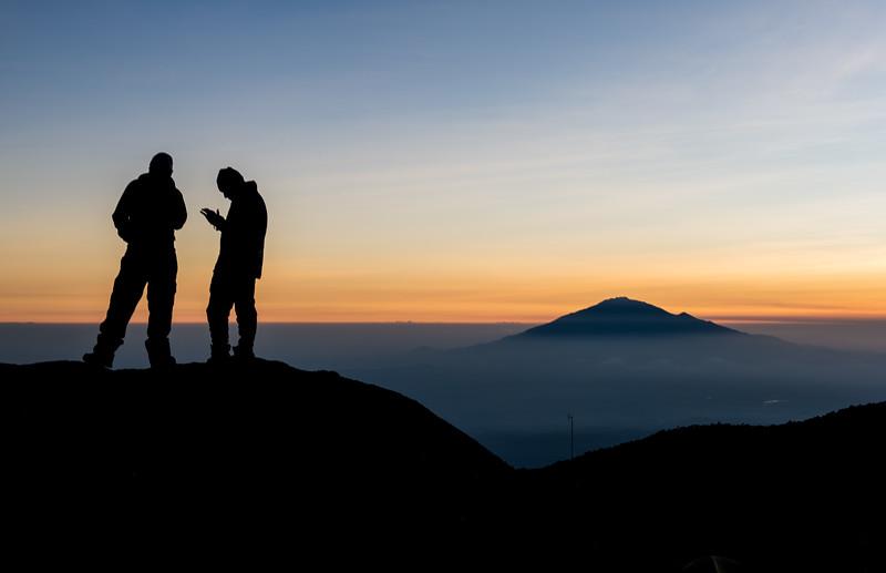Mt. Meru.  I think the guides got good phone reception on that rock.