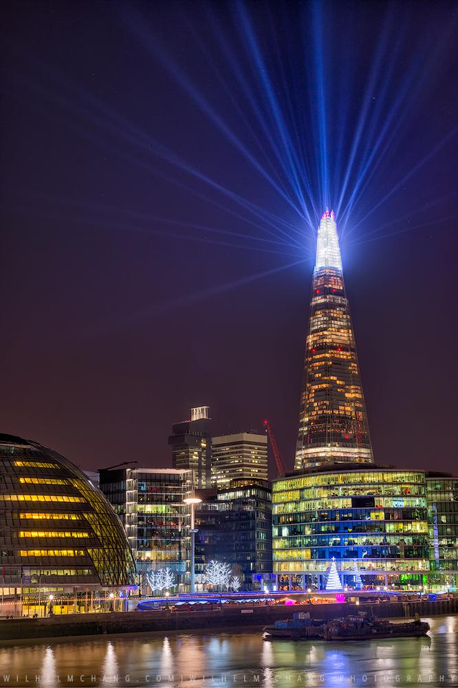 倫敦碎片大樓聖誕燈光秀 The Shard -Illuminate by 旅行攝影師張威廉 Wilhelm Chang Photography