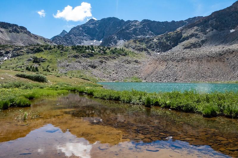 Reflecting pond next to Lake Ann, West Apostle above