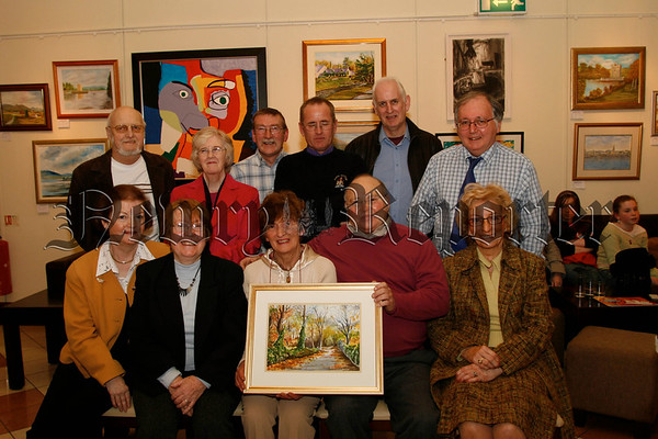 Members of the Rostrevor Art Group pictured in the Sean Hollywood Arts Centre on the opening night of their Spring Exhibition, 07W11N54