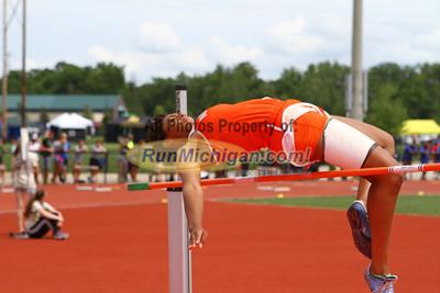 D1 Girls High Jump - 2013 MHSAA LP Track and Field Finals