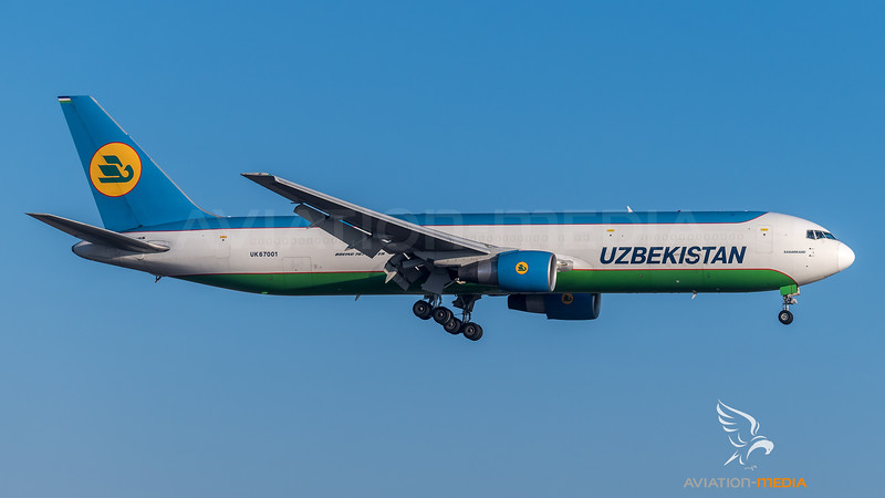Uzbekistan Cargo / Boeing 767-33PER(BCF) / UK67001