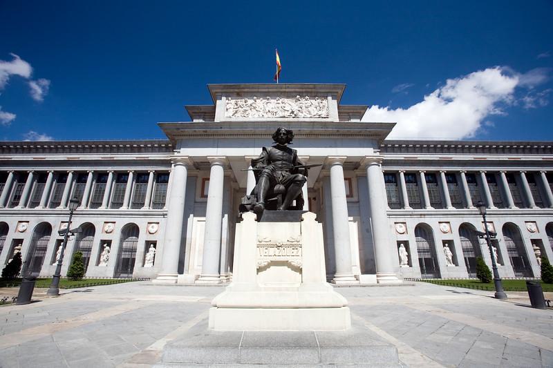 Velazquez monument, Prado Museum, Madrid, Spain