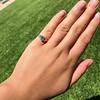 1.15ctw Emerald Cut Diamond Trilogy Ring 10