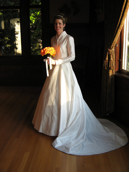 My dress was absolutely perfect.  I wanted the dress that Maria wore in the Sound of Music and my mom worked so hard on it to make it look exactly the same.  Thanks mom - you did an awesome job!