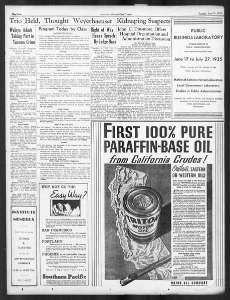 Daily Trojan, Vol. 26, No. 153, June 11, 1935