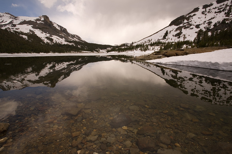 Tioga Pass and Tioga Lake