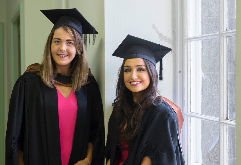 29/10/2015. Waterford Institute of Technology Conferring. Pictured are Milessa Gallagher, Waterford and Victoria Wilson, Clonmel who BA (Hons) in Marketing. Picture: Patrick Browne