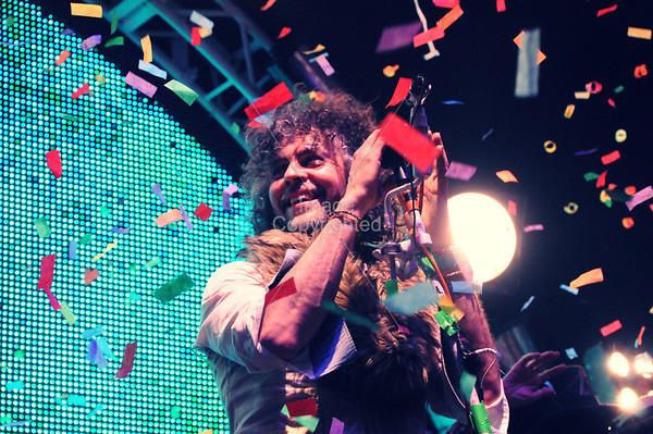 Wayne Coyne, The Flaming Lips, New Years Freakout 5, Night 2. January 1, 2012. Oklahoma City,Oklahoma