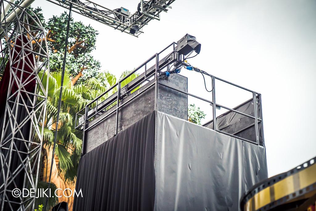 Universal Studios Singapore - Halloween Horror Nights 6 Before Dark Day Photo Report 2 - Opening Scaremony stage tower