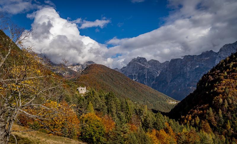 Ein erster Blick vom Predilpass nach Slowenien