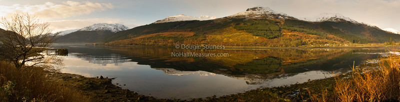 'Loch Long' - panorama<br /> 18 December 2011<br /> - featuring the 'Arrochar Alps'<br /> Arrochar, Argyll, Scotland