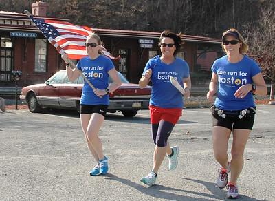 One Run For Boston II Travels Through Tamaqua (4-10-2014)