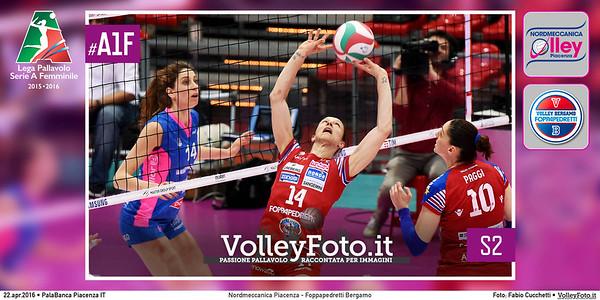 Nordmeccanica Piacenza - Foppapedretti Bergamo   S2 #PlayOff #MGSVolleyCup #A1F