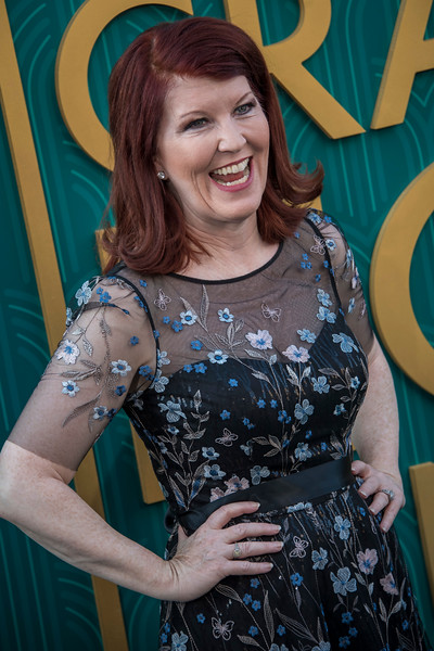 HOLLYWOOD, CA - AUGUST 07: Kate Flannery arrives at Warner Bros. Pictures' 'Crazy Rich Asians' Premiere at TCL Chinese Theatre IMAX on Tuesday, August 7, 2018 in Hollywood, California. (Photo by Tom Sorensen/Moovieboy Pictures)